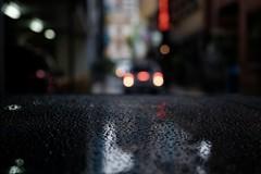 in reverse (jhnmccrmck) Tags: melbourne meyersplace littlecollinsstreet 3000 classicchrome fujifilm xt1 bokeh rain raindrops taillights