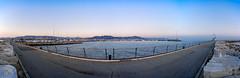 Il molo (Promix The One) Tags: sanbenedettodeltrontoap marche molo porto mare massi monumento acqua colline alba sole cielo blu fotopanoramica canoneos1dsmarkii sigma1530f3545exdgaspherical