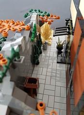 Olive Sand House MOC alley (betweenbrickwalls) Tags: lego legos afol alley eagle home desert sand