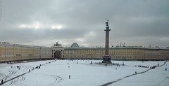 Palace Square (peterphotographic) Tags: ©peterhall stpetersburg saintpetersburg russia olympus em5mk2 microfourthirds p3200139edwm росси́я санктпетербу́рг palacesquare statehermitagemuseum hermitage square city cityscape urban winter snow cold ice freeze frozen grey