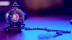 Old Time in Modern Light (Federica Masellis) Tags: steampunk lucky old bokeh light fashion time pocketwatch blue
