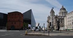Liverpool 170518 - DSC_0540 (Leslie Platt) Tags: exposureadjusted straightened liverpool liverpool1 merseyside portofliverpoolbuilding mannisland mannislandbuildings museumofliverpool