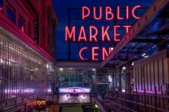 Seattle Neon (JohannMVG) Tags: sony a7riii seattle washington pikeplacemarket pikeplace city neon vaporwave glow night twilight