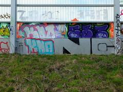 Graffiti A20 (oerendhard1) Tags: graffiti streetart urban art vandalism illegal throw ups tags rotterdam oerendhard a20 kha
