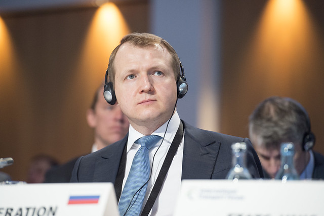 Nikolay Asaul attending the Closed Ministerial