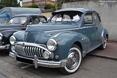 Peugeot 203 (Monde-Auto Passion Photos) Tags: voiture vehicule auto peugeot 203 berline bleu blue ancienne classique rare rassemblement evenement france courtenay automobile rareté