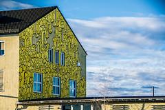Distance (Melissa Maples) Tags: münchen munich deutschland germany europe nikon d3300 ニコン 尼康 nikkor afs 18200mm f3556g 18200mmf3556g vr winter graffiti streetart art mural yellow building fists positivepropaganda kripoe