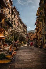 Street photo...Riomaggiore (Anthony P.26) Tags: architecture category cinqueterre external italy places riomaggiore street travel streetphotography town village sigma1020mm canon70d canon outdoor people buildings residence italian houses architecturephotography building sky road