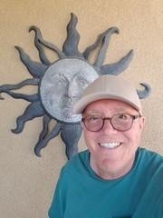April 23, 2018 (309-365) (gaymay) Tags: california desert gay love palmsprings riversidecounty coachellavalley sonorandesert 365days sun selfie hat wallhanging artclimbers