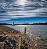 Rod fishing, Norway (Vest der ute) Tags: xt2 norway oslo sky bluesky clouds sea seascape water landscape man sailboat rock mountain sunbeams fav25