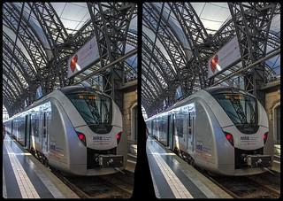 Regionalbahn 3-D / CrossView / Stereoscopy / HDRaw