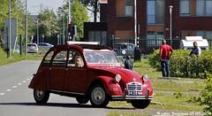 Citroën 2CV 1970 (XBXG) Tags: 3428mm citroën 2cv 1970 citroën2cv 2cv6 2pk eend geit deuche deudeuche red rood rouge citromobile 2018 citro mobile expo haarlemmermeer stelling vijfhuizen carshow vintage old classic french car auto automobile voiture ancienne française vehicle outdoor