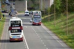 858 & 879 (Callum's Buses and Stuff) Tags: madderwhite madderandwhite bus buses madder edinburghbus edinburgh gemini gemini2 lothianbuses lothian b9tl volvo road buseslothianbuses busesedinburgh b7tl