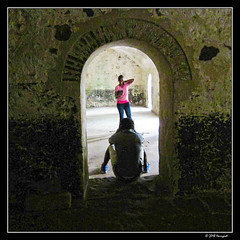 posing (harrypwt) Tags: harrypwt canons95 s95 ghana elmina fortress interesting contrast paintinglike africa westafrica framed