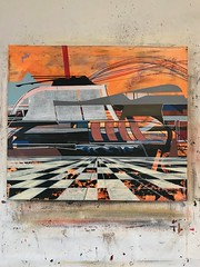 Jim Harris: Njord. (Jim Harris: Artist.) Tags: art artre lartabstrait landscape future technology technik njord painting peinture