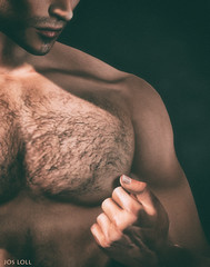 Help Yourself (Jos Loll) Tags: nipple twist hairy chest man