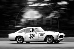Nicholas King - Aston Martin DB4 (MPH94) Tags: amoc oulton park cheshire auto car cars motor sport motorsport race racing motorracing black white monochrome msvr nicholas king aston martin db4 intermarque