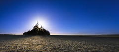 Sandcastle Sunset (PixStone) Tags: mont saint michel normandie normandy beach sand bay france sunburst star blue sky sunset panorama sable nature landscape castle colors contrast nikon d7100 sandcastle