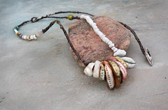 of gentle times necklace by greybirdstudio (greybirdstudio) Tags: greybirdstudio isle skye' scotland artisan adornment artist beach beachcomber bead ceramic clay craft pod organic nature blossom jewellery porcelain painting etsy uk textile hemp linen wax silver necklace shore shell roman glass wearable art earthy natural sculpture sculptural stitch sewn sewing stitchin sea ocean mer wave cluster urchin starfish hand handmade