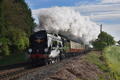 Welsh Marches Express (wwatfam) Tags: bulleid west country class light pacific battle britain lord dowding braunton express passenger train steam trains railways railroad cheshire engalnd