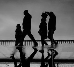 DOWNSIDE (jason Buckley.) Tags: blackandwhite bw shadows silhouette streetphotography street urban reflection photography photo people exposure sunset sun evening water winter rain london love lightroom light 77mm city canon neon darkness photoshop eos lens lights river white walk walkway abstract architecture art thames the sky glass night underground lee
