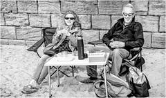 Alnmouth . (wayman2011) Tags: fujifilmxf35mmf2 lightroomfujifilmxpro1 wayman2011 bw mono coast beach seaside people northumberland alnmouth uk
