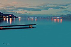 At Evenings End (joeinpenticton Thank you 2.3 Million views) Tags: ok okanagan lake okanogan valley kelowna pier dock wharf joeinpenticton joe jose garcia peachland nightscape landscape reflection reflections sunset sun rise set sunrise connector light lights