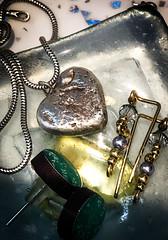 I'm CROSS!!! (judy dean) Tags: judydean 2018 macromondays hmm readyfortheday jewellery necklace chain pendant heart earrings