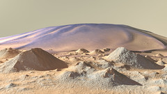 Intracrater Dunes on Mars (Kevin M. Gill) Tags: mars dunes crater hirise computergraphics cgi planetary science astronomy space