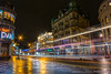 Traffic through the city (steve_maitland@live.co.uk) Tags: lighttrails traffic newcastle nighttime night city citycentre wet reflection