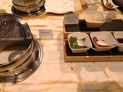 Congee and condiments (A. Wee) Tags: congee condiment buffet singapore 新加坡 businessclass 公务舱 商务舱 sliverkris lounge terminal3 sinchangi airport 机场