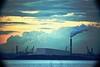 Pigeon House Road. (Mark Waldron) Tags: dublin bay ireland evening incinerator sky smoke covanta mto500 500mm mirrortele soviet lens telephoto vignette m39 sony a7 fullframe industrial cityscape warning light facility