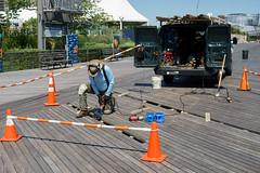 Repair (dtanist) Tags: nyc newyork newyorkcity new york city sony a7 canon fd 50mm coney island brooklyn boardwalk repair repairs van