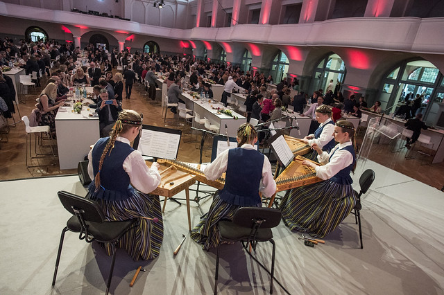 Traditional latvian music performed for the attendees