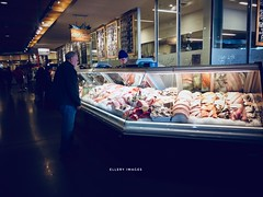 Gone Fishing (Ellery Images) Tags: glass reflections elleryimages downtown display man people market shop shopping seafood fish fishing