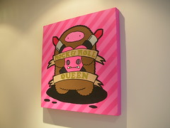 Tulula ~ Rock & Roll Queen Canvas (JamFactory) Tags: monster painting bristol graphics canvas acrylics paints jfart