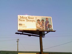 Troops to Teachers billboard