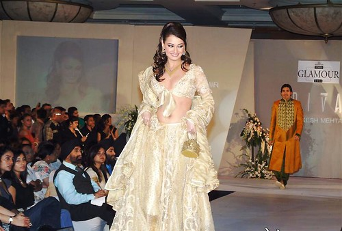 Diya Mirza on the ramp walk