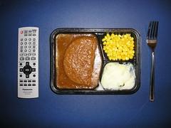 Dinner Theater (John's Brain) Tags: dinner tv fork tray remote