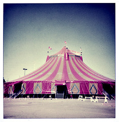 shrine circus (highwaygirl67) Tags: ontario polaroid sx70 circus tent brampton displayedinstant100best