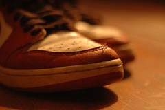 . (graeme fraser) Tags: life red stilllife white shoe still nikond70 sneaker f18 trainer airjordan