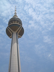 Liberation Tower (Q8e) Tags: blue sky tower tall kuwait liberation kuwaitcity q8