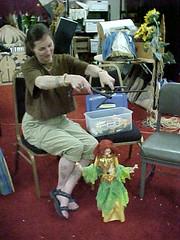 Erin and Marionette (Elly_Leaverton) Tags: bellydancer marionette