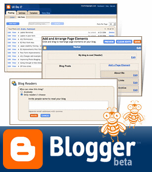 blogger in beta by webmove