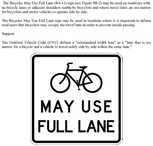 "alternative to ""share the road"" signs"