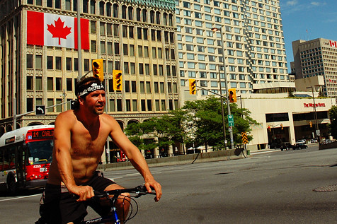 Canada flag bicycle