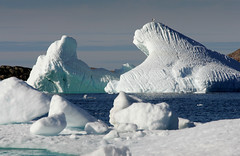Sea Ice in Greenland (nick_russill) Tags: nightphotography ice water landscape frozen arctic pack freeze greenland inuit icebergs eskimo kulusuk