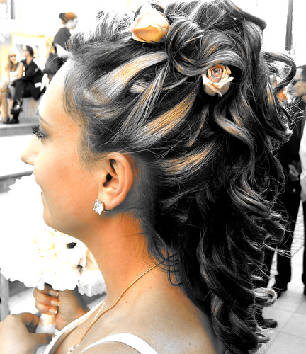 long curl bridal hairstyles