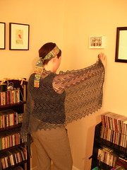 Hanging vines in use (stupid clever) Tags: cloud alpaca knitting lace knit yarn knitlace amazinglace