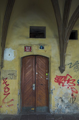 Old Town Door #1 (John the Monkey) Tags: door graffiti prague praha czechrepublic oldtown eskrepublika starometske starometskenamesti